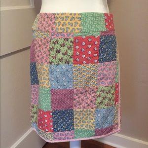 Vineyard Vines Patchwork Skirt Size 8